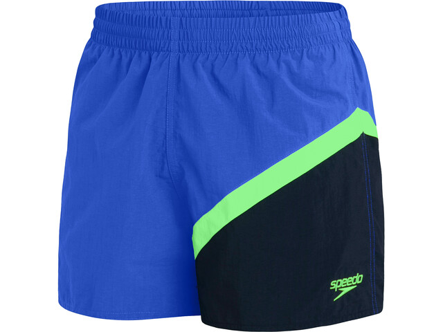 "speedo Colourblock 14"" Watershorts Men, beautiful blue/true navy/zest green"